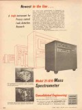 consolidated engineering corp 1954 newest mass spectrometer vintage ad