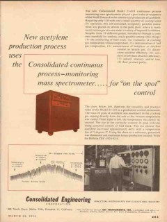 consolidated engineering corp 1954 acetylene production vintage ad