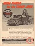 Continental Motors Corp 1954 Vintage Ad Truck Engine Power Tough Jobs