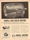 howell electric motors company 1954 fan-cooled enclosed vintage ad