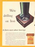 Hughes Tool Company 1954 Vintage Ad Oil Field Drilling Iron Bearings