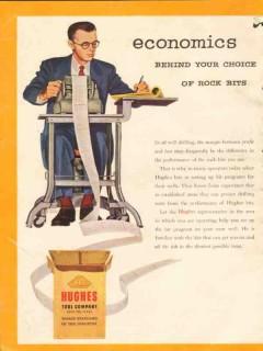 Hughes Tool Company 1954 Vintage Ad Oil Field Rock Bits Economics