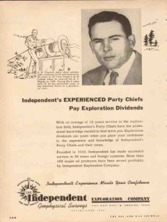 Independent Exploration Company 1954 Vintage Ad Oil E B Claunch