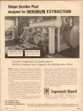 Ingersoll-Rand 1954 Vintage Ad Gasoline Plant Minimum Extraction