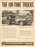 international trucks 1954 roadliner r-195 on-time truck vintage ad