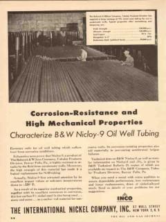 international nickel company 1954 corrosion resistance pipe vintage ad