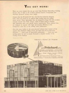 J F Pritchard Company 1954 Vintage Ad Oil Gas Cooling Tower Get More