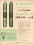 Lane-Wells Company 1954 Vintage Ad Oil Field Bridging Plugs No Leak