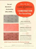 Lane-Wells Company 1954 Vintage Ad Oil Field Combination Perforating