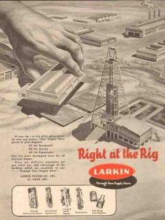 Larkin Packer Company 1954 Vintage Ad Oil Field Rig Equipment Service