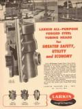 Larkin Packer Company 1954 Vintage Ad Oil Field Steel Tubing Head
