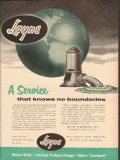 Layne Bowler Inc 1954 Vintage Ad Oil Field Pumps Service No Boundaries