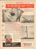 LeBus International Engineers 1954 Vintage Ad Oil Joe Beard Drilling