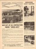 lincoln electric company 1954 contractor prefer sheild-arcs vintage ad