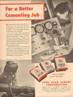 Lone Star Cement Corp 1954 Vintage Ad Oil Field Starcor Better Job