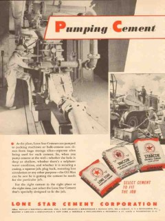 Lone Star Cement Corp 1954 Vintage Ad Oil Field Well Packing Pumping