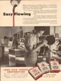 Lone Star Cement Corp 1954 Vintage Ad Oil Field Easy Flowing Starcor
