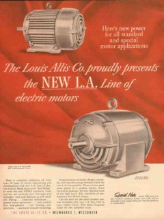 louis allis company 1954 new power standard special motors vintage ad