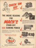 mack trucks 1954 check em off inside reasons stand out vintage ad