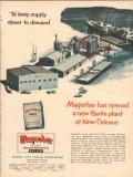 Magnet Cove Barium Corp 1954 Vintage Ad Oil Barite Plant New Orleans