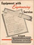 Maintenance Engineering Corp 1954 Vintage Ad Oil Peerless Equipment