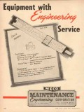 Maintenance Engineering Corp 1954 Vintage Ad Oil Field Smith Meters
