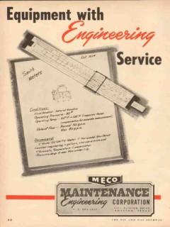Maintenance Engineering Corp 1954 Vintage Ad Oil Field Smith Meters