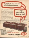 Marley Company 1954 Vintage Ad Oil Cooling Tower Cross-Flow No Secrets
