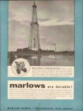 Marlow Pumps 1954 Vintage Ad Oil Field Dawn Dusk Round-The-Clock Duty