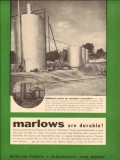 Marlow Pumps 1954 Vintage Ad Oil Field Additional Profits Operators