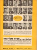 Marlow Pumps 1954 Vintage Ad Oil Nation Wide Engineering Organization