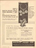 Martin-Decker Corp 1954 Vintage Ad Hydraulic Weight Indicator Type D