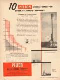 Pelton Water Wheel Company 1954 Vintage Ad Models Wider Selection Pump