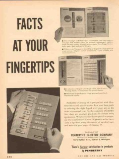 Penberthy Injector Company 1954 Vintage Ad Oil Gages Facts Fingertips