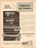 Penberthy Injector Company 1954 Vintage Ad Oil Gas Jet Pumps Low Cost