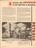 Petrolite Corp 1954 Vintage Ad Oil Reasons Why Petreco Best Desalting