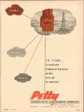 Petty Geophysical Engineering Company 1954 Vintage Ad Oil Experience