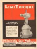 Philadelphia Gear Works 1954 Vintage Ad Oil Limitorque Automatic Valve