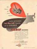 Pierce Governor Company 1954 Vintage Ad Oil Heart Engine Performance