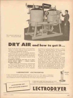 Pittsburgh Lectrodryer 1954 Vintage Ad Oil Dry Air How To Get It