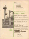 Procon Inc 1954 Vintage Ad Oil Builds UOP Platformer Pana Refining Co
