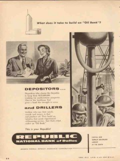republic national bank dallas 1954 what does it take oil vintage ad