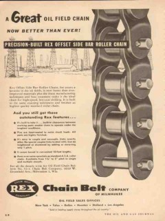 chain belt company 1954 great oilfield better than ever vintage ad