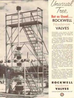 Rockwell Mfg Company 1954 Vintage Ad Oil Field Valves Unusual Tree