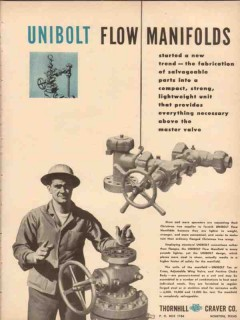 Thornhill-Craver Company 1954 Vintage Ad Oil Gas Unibolt Flow Manifold