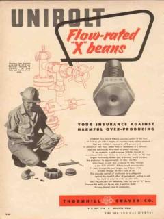 Thornhill-Craver Company 1954 Vintage Ad Flow-Rated X-Beans Unibolt