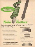 Tuboscope Company 1954 Vintage Ad Oil Pipe Protector Tube-Tectors