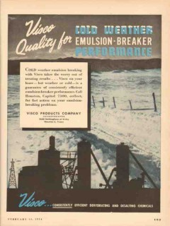 visco products company 1954 quality cold weather emulsion vintage ad