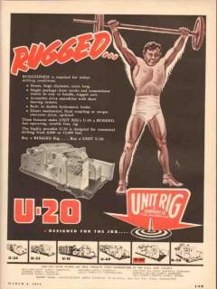 Unit Rig Equipment Company 1954 Vintage Ad Oil Drilling Rugged U-20