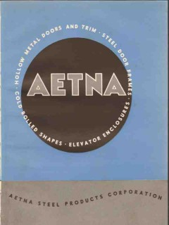 Aetna Steel Products Company 1941 Vintage Catalog Elevator Door Frame